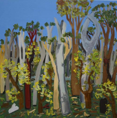 Bushland near Edi, 2019, oil on canvas 65x65cms